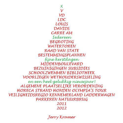 Iedereen fijne kerstdagen en een heel gelukkig nieuwjaar!